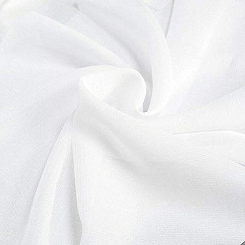 DJBM 59'' Solid Color Sheer Chiffon Fabric Yards...