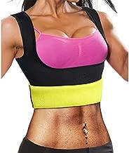 Ursexyly Fat Burner Sweating Vest Shirt Neoprene Slimming Sauna Suit Tank Top for Women (Black Sauna Vest, XL, US 16-18)