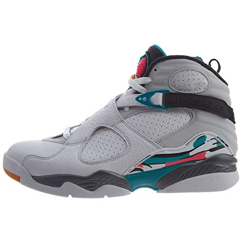 Nike Herren Air Jordan 8 Retro Fitnessschuhe, Mehrfarbig (White/White/Turbo Green/Neutral Grey 113), 42.5 EU