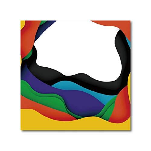 Rjunjie abstracte achtergrond met gesneden vormen affiche print, zakelijke presentatie flyer sjabloon muurkunst afbeelding decor canvas schilderij (50x50 cm zonder lijst)