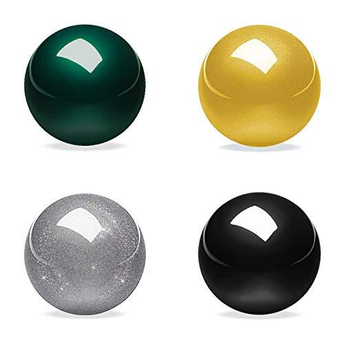 Perixx PERIPRO-303 X4B Trackball – 3,5 cm Ersatzball für Perimice und M570-4-in-1 Multicolor schwarz, Silber, grün und gelb Trackball – Elegante Aufbewahrungsbox, Mehrfarbig b (18055)