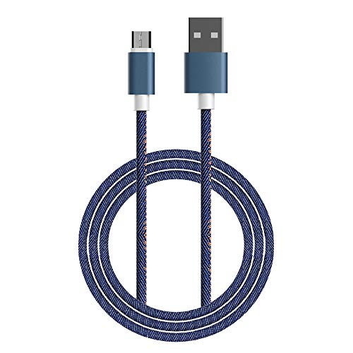 Micro USB Cable Charging High Speed Micro USB to USB 2.4 Cable Data Tansfer (3.3FT, Blue-1Pack)
