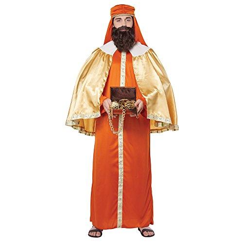 California Costumes Men's Gaspar, Wise Man (Three Kings) - Adult Costume Adult Costume, -Orange/Gold, Large/Extra Large