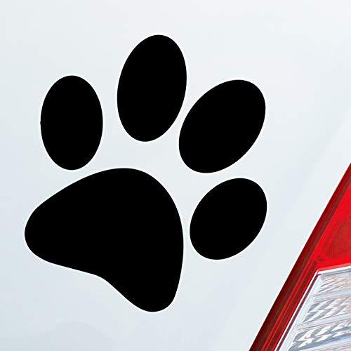 Auto Aufkleber in deiner Wunschfarbe Hundepfote Pfote Hund Fote Tatze 10x11 cm Autoaufkleber Sticker Folie