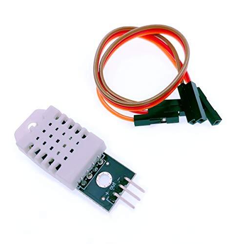 JZK DHT22 AM2302 Sensor de Temperatura y Humedad con Placa y Cable para Arduino