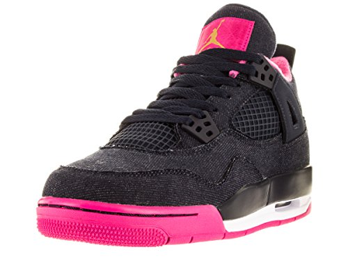 Nike Nike Mädchen Air Jordan 4 Retro GG Laufschuhe, schwarz Gelb Rosa Drk Obsdn Mtllc Gld VVD Pnk Wh, 36.5 EU