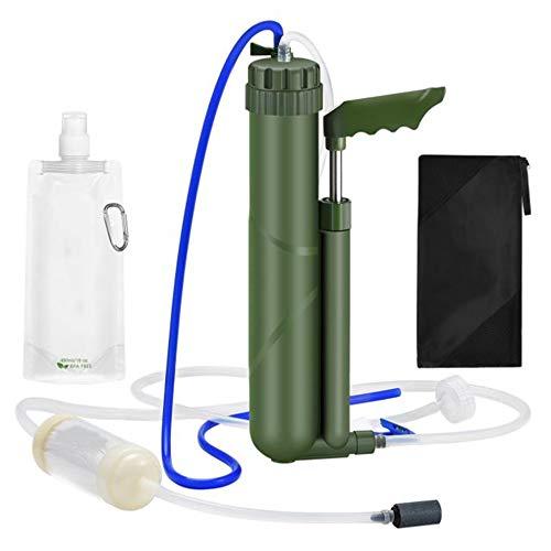 InLoveArts Tragbarer Wasserfilter 8000 Liter Wasseraufbereitungsstroh 0,0001 Mikron Hochfiltrationswasserreiniger Geeignet für Camping/Reisen/Outdoor-Notfall