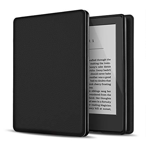 TNP Estuche Nuevo Funda Nuevo para Kindle 10 Generación 2019, Cubierta Ultra Fina y Ligera, Diseño de Sueño Automático, Cierre Magnético, Protección de Caída Golpe Daños Arañazos, Color Negro