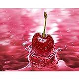 Lazodaer - Kit de pintura de diamante para adultos, niños, decoración de oficina, habitación de casa, cerezo rosa de 39,9 x 30 cm
