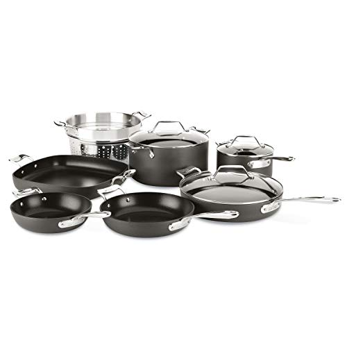 All-Clad Essentials Nonstick Cookware set, 10-Piece, Grey