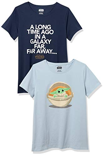 Amazon Essentials Disney Marvel Princess Short-Sleeve T-Shirts Fashion, 2-Pack Star Wars Child, 9 años