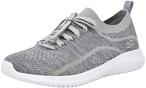 Skechers Women's Ultra Flex Statement Sneaker, Light Grey, 7 M US