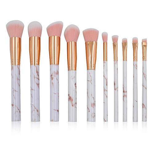 Pinceaux de maquillage femmes Pinceaux de maquillage Set Pinceaux pour les yeux marbrés avec Blush Foundation Pinceau Surligneur Pinceau Eeyshadow Correcteur Lèvres Correcteur Doux
