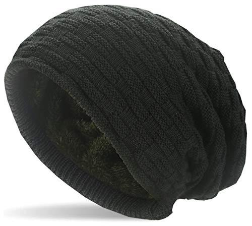 Hatstar Warme gefütterte Feinstrick Beanie Mütze   mit Flecht Muster und sehr...