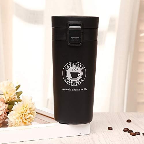 Mdsfe Vaso de Agua de Viaje de Primera Calidad Vaso Termo de Acero Inoxidable Taza de vacío Mi Botella de Bebida.Botella de Agua Termo Botella de Agua Caliente - 380ml, Gris