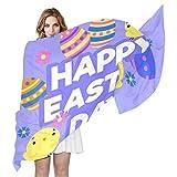 Bufandas de huevo de Pascua para mujer, cabeza de pelo, ligera, diseño de animales, para mujeres, adolescentes, niñas, adolescentes, niñas, adolescentes, niñas, adolescentes, niñas, adolescentes, niñas, 180 x 90 cm