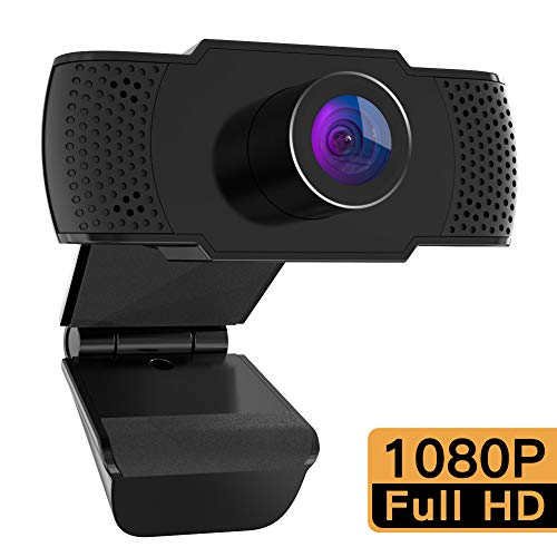 M Mehoom Webcam 1080P con microfono, videocamera PC desktop USB 2.0 Full HD Web Camera per videochiamate, studio, conferenza, registrazione