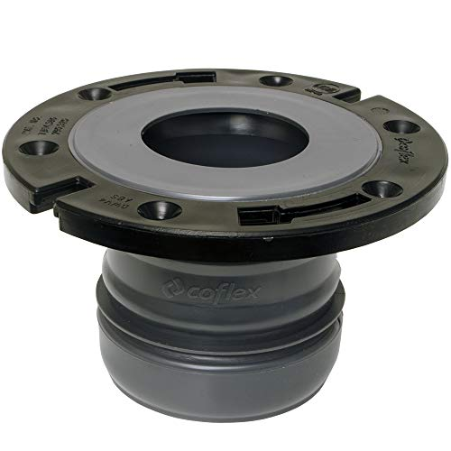 Product Image of the FlexOn Toilet Flange for 4' PVC, ABS, Cast Iron or Lead Pipes-Includes Spacer System to Correct Flange Elevation from 3/8'-1 1/8'