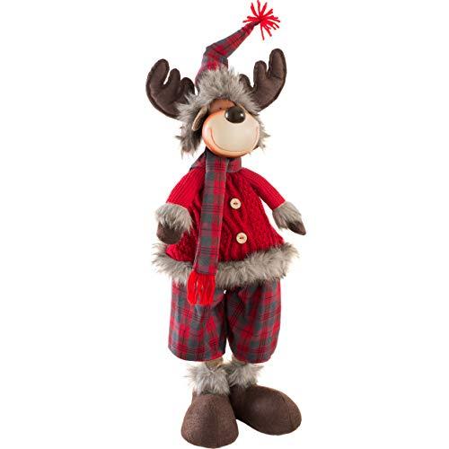 WeRChristmas - Figura Decorativa navideña (60 cm), diseño de Reno, Multicolor