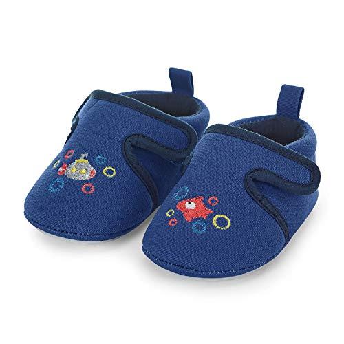 Sterntaler Jungen Baby-Krabbelschuh Hausschuhe, Blau (Blau 356), 19/20 EU