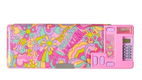 Smiggle Good Vibes Pop Out Pencil Case (Pink)