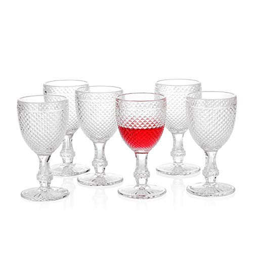 G Chroma Collection - Juego de 6 copas de vino transparentes de 300 ml para refrescos, zumo de soda, perfectas para cenas, fiestas, bares, restaurantes