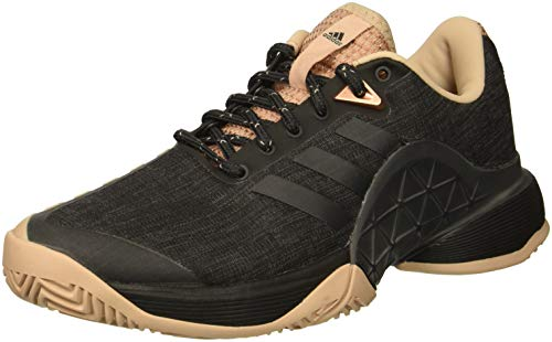 adidas Women's Barricade 2018 LTD Tennis Shoe, Black/ash Pearl/Black, 6 M US