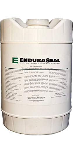 "EnduraSeal 100% Acrylic""Wet Look"" Semi Gloss Concrete Sealer Solvent..."