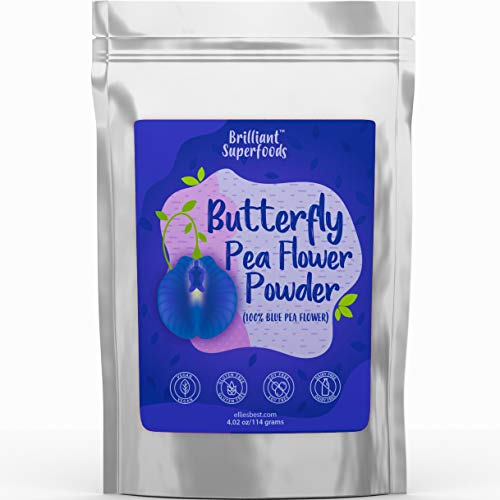 Butterfly Pea Flower Powder - Blue Matcha Tea - 4.02 oz - 100% Natural Food Coloring - Teas, Smoothie Bowls, Yogurts & Nut Milks - Ellie's Best