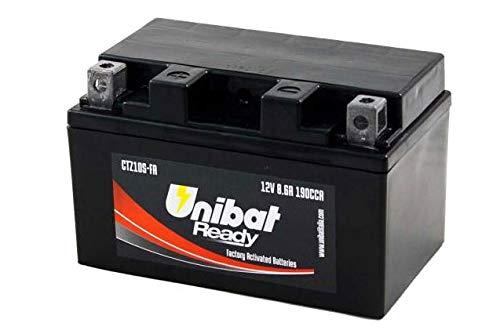 YTZ10-S Batteria Moto Completa di Acido Pronta all'Uso UNIBAT READY CTZ10S-FA