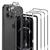 omitium 5 Pack Protector Pantalla Compatible con iPhone 12 Pro Max, 3...