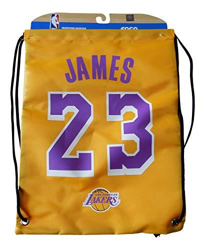 FOCO NBA Los Angeles Lakers LeBron James #23 Player Kordelzug Rucksack, Los Angeles Lakers, Einheitsgröße