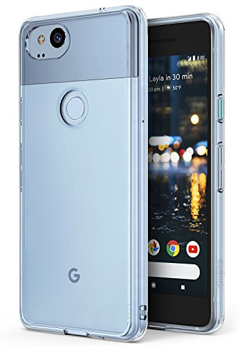 Ringke Google Pixel 2 Hülle, [Fusion] kristallklarer PC TPU Dämpfer (Fall geschützt/Schock Absorbtions-Technologie) für das Google Pixel2 - Kristallklar (Clear)