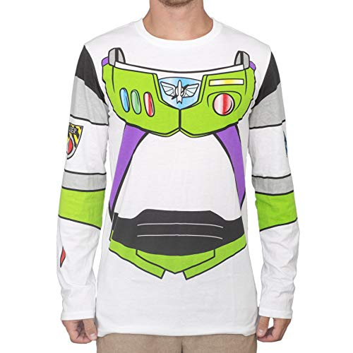 Toy Story I am Buzz Lightyear Adult Long Sleeve Costume T-Shirt White