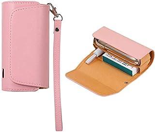 Lelesta Custodia Protettivo per IQOS 3.0 DUO Titolare per Sigarette Astuccio in Tela + pelle PU Sigaro Accessori (Rosa)