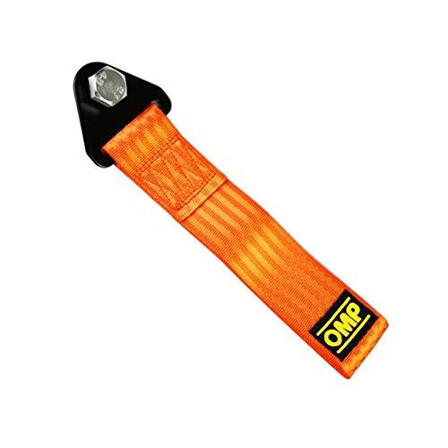Universal Car Modified Anhänger mit Nylon Trim High Strength Kurz Tow Strap Universal-Anhänger Seil vorne und hinten Bar Abschleppen Gürtel Autozubehör Orange 1 Pc