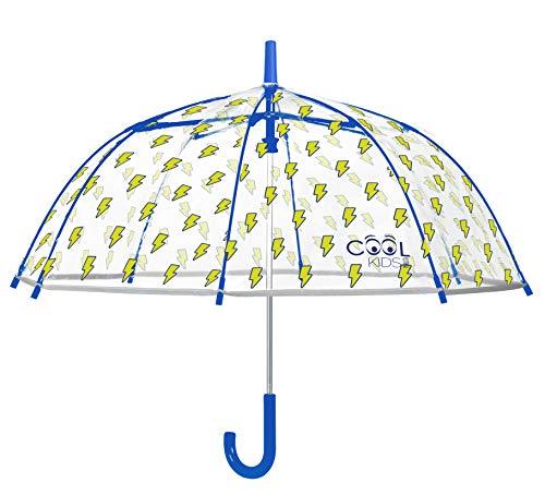 PERLETTI Unisex Paraguas Transparente rayos 70 cm aut. Regenschirm, Mehrfarbig (Mehrfarbig 000), Einheitsgröße