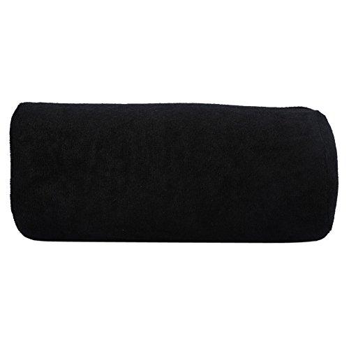 10 Colors Salon Hand Rest Cushion Detachable Washable Nail Art Soft Sponge Pillow (Black)