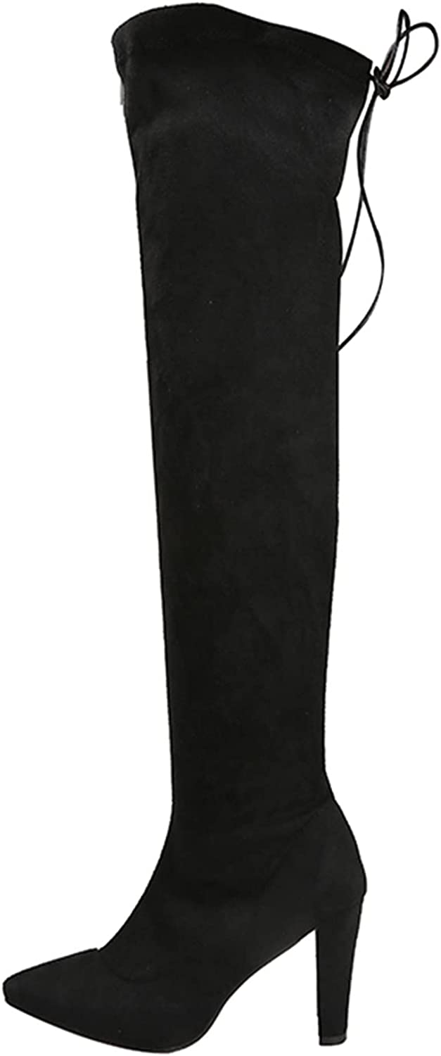 Women'S Knee-High BootsFashion Comfy Women Sexy Thigh High Boots Lace Up Ankle Boots Mid Calf BootsRound Roe Short Boots