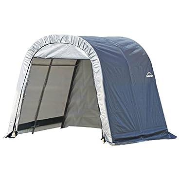 ShelterLogic 77823 Round Style Shelter, 10x16x8, Grey