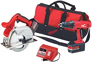 Milwaukee 6320-24 18 Volt 6-1/2-inch Metal Cutting Saw and 1/2-inch Hammer-Drill Combo Kit