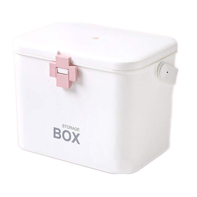 想像力君主伝染性貯蔵箱の世帯の二重層の大容量の携帯用薬箱の家族の子供のための応急処置のキットの薬の貯蔵の薬箱
