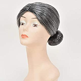 Festival film and television granny wig stage show prom dress wig grandmother wig old lady wig