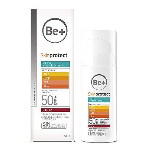 Be+ Skinprotect Gel Facial Piel Grasa y/o Tendencia Acnéica SPF50+, 50ml
