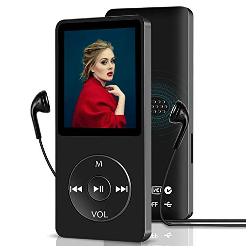 MP3 Player,16GB Music Player with Build-in Speaker/ FM Radio/ Recording/ E-Book, Mini MP4 MP3 Player with 1.8 inch HD Screen, Portable Media Player for Running,HiFi Lossless Sound, Support Up to 128GB