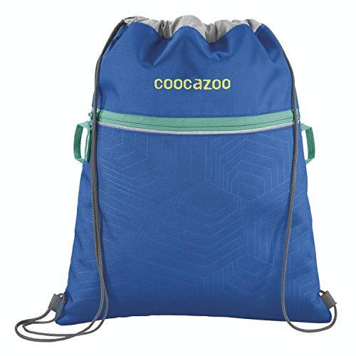 """Coocazoo Sportbeutel RocketPocket """"Waveman"""", blau, mit Reißverschlussfach und Kordelzug, reflektierende Elemente, Schlaufen zur Befestigung am Schulrucksack, für Jungen, 10 Liter"""