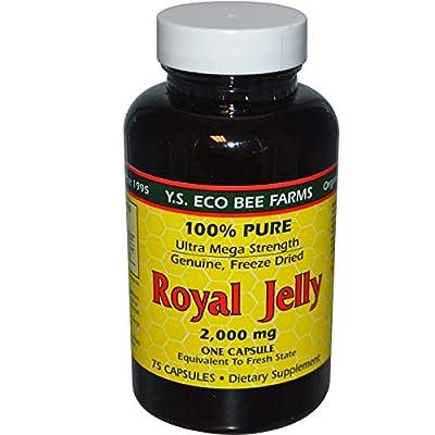 100% Pure Royal Jelly Ultra Mega Strength 2000 Milligrams 75 Capsules