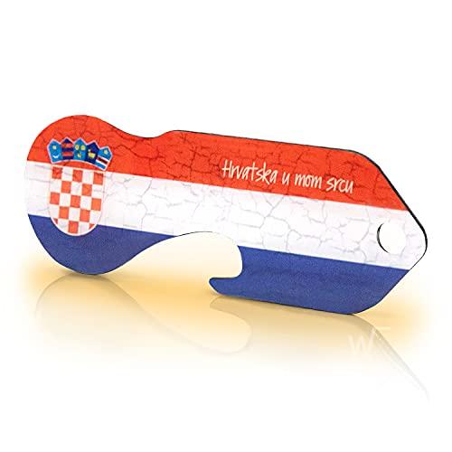 Einkaufswagenlöser Code24 Porta Chiavi / Gettone Carrello Spesa Design Croazia / Pratico Portachiavi con Chiave per Carrello della Spesa / Con Codice Key Finder Incluso