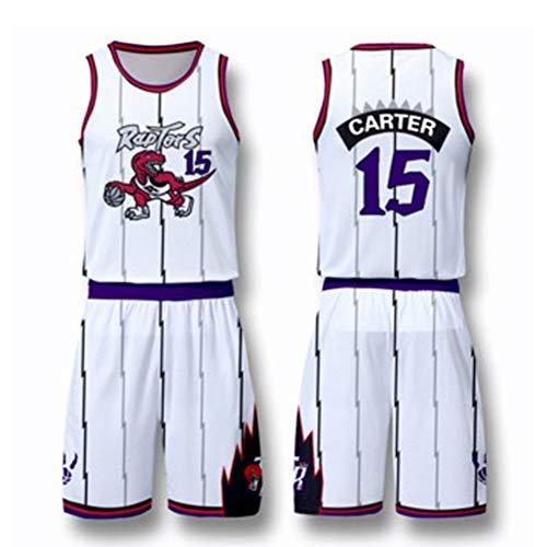 HJSW Maglia da Basket NBA Uomo, Vintage Swingman Jersey, 15 (Vince Carter), Maglie Canotta NBA Tuta da Basket Pallacanestro Uniforme, XS-XXL (Color : Style-1, Size : XS)