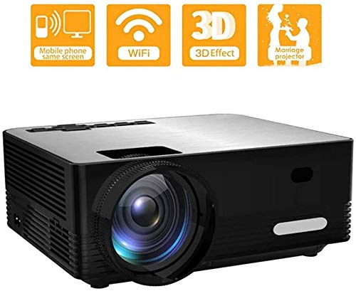 YAYY Mini Wireless Full HD Projector Ondersteuning 1080P HD TV Stick PS4 HDMI VGA TF AV-kabel en USB Smartphone PC Laptop (Upgrade)
